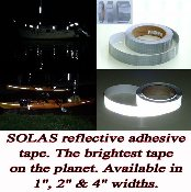 SOLAS Marine Reflective Tape 30 foot rolls