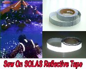 SOLAS Reflective SEW ON Tape - 30 & 150 foot rolls